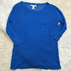 MNG BY MANGO BLUE LIGHTWEIGHT SWEATER LARGE